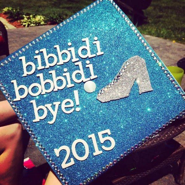 Disney Cinderella Themed Graduation Cap.