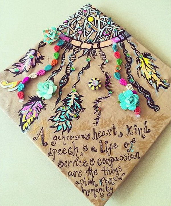 Dreamcatcher Graduation Cap.
