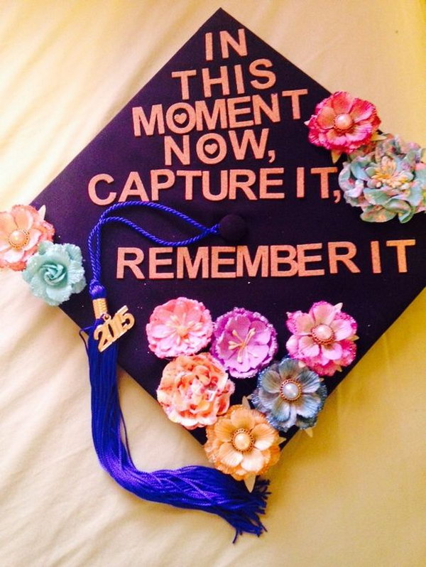 Taylor Swift Quote Graduation Cap.