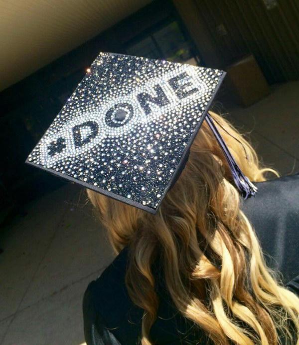 Glitter Rhinestone Graduation Cap.