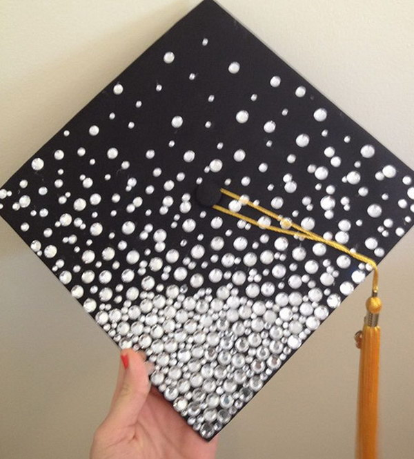 Blinged Out Graduation Cap.