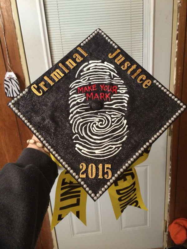 Fun and Easy Criminal Justice Graduation Cap.