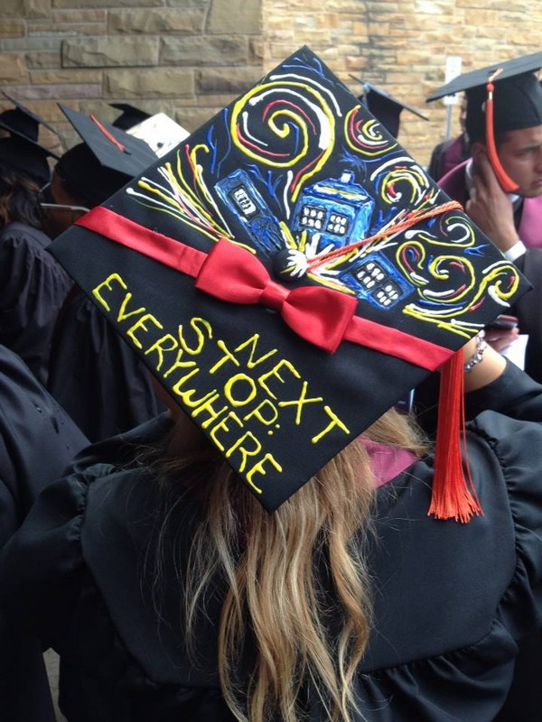Doctor Who Graduation Cap.