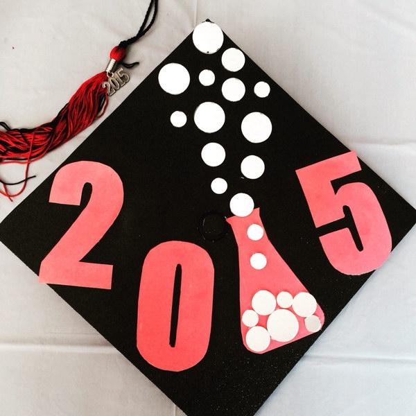 Chemistry Graduate Cap Design.