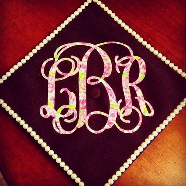 Monogram Graduation Cap.