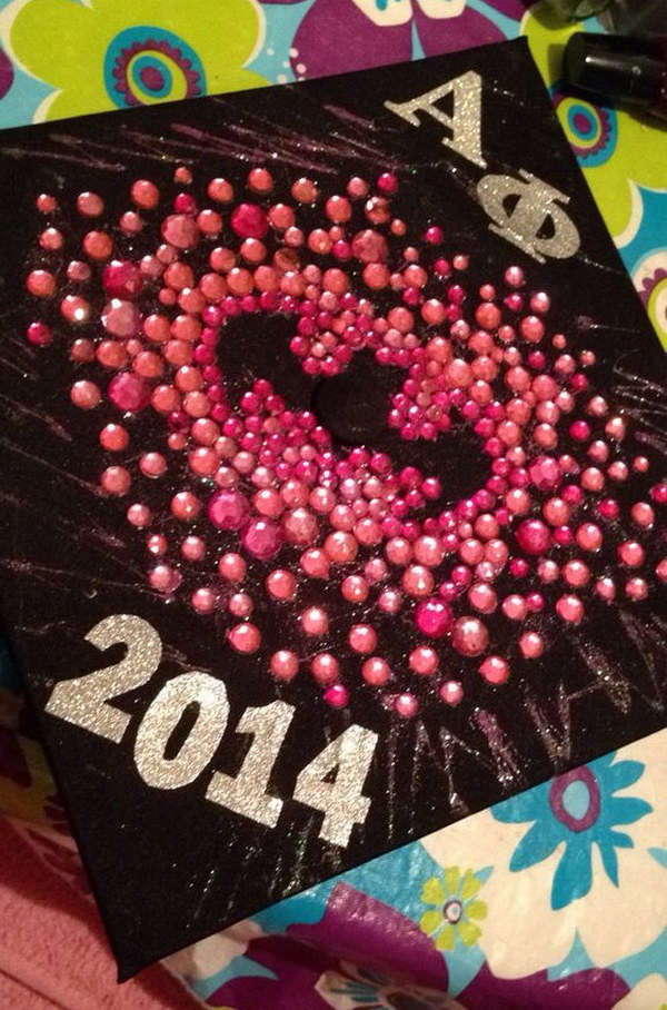 Alpha Phi Batman Graduation Cap.