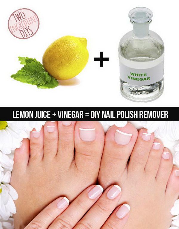 DIY 2 Ingredient Nail Polish Remover.