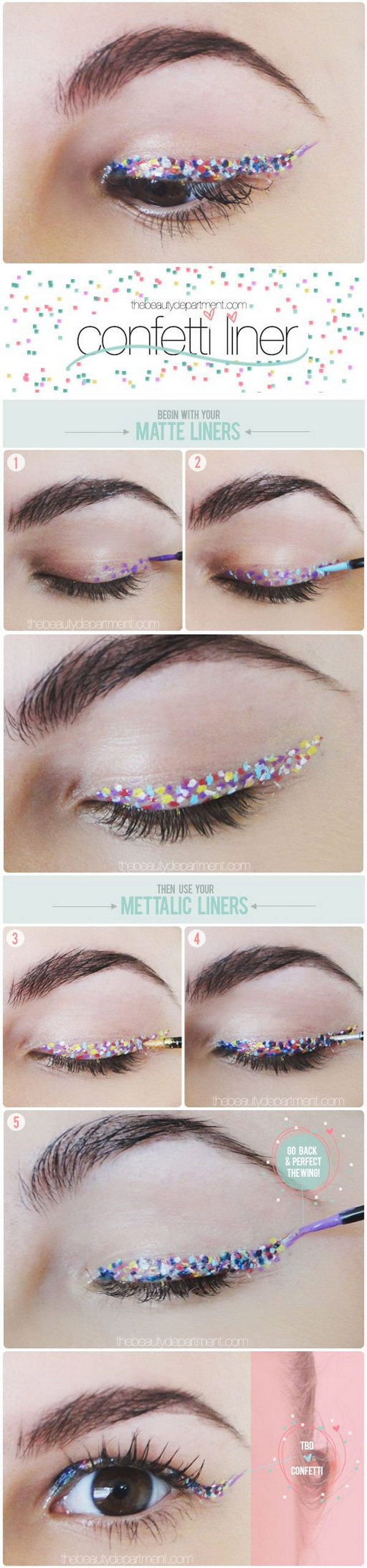 How to Get Confetti Eyeliner.