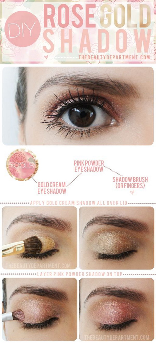 DIY Rose Gold Shadow.