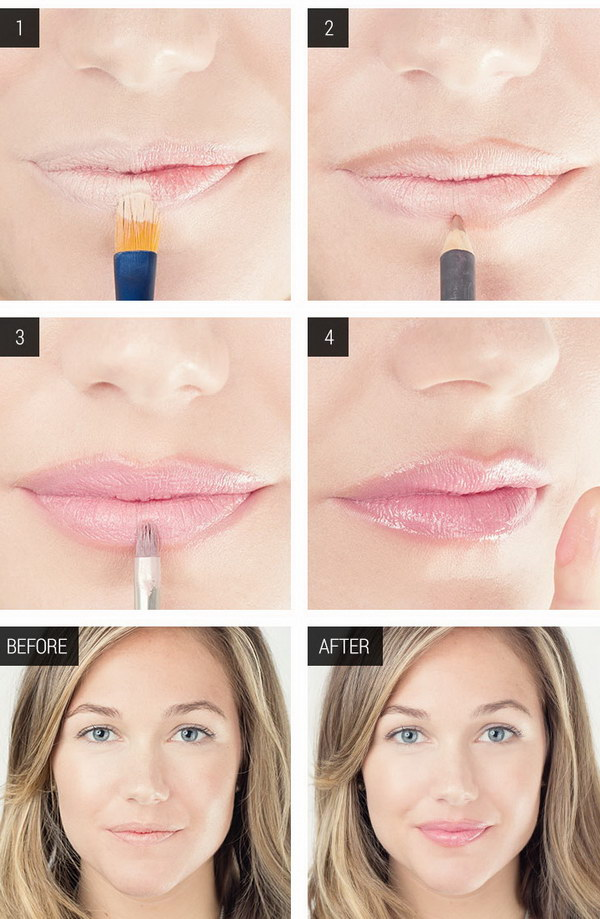 How to Fake Fuller Lips Use a Non drying Concealer.