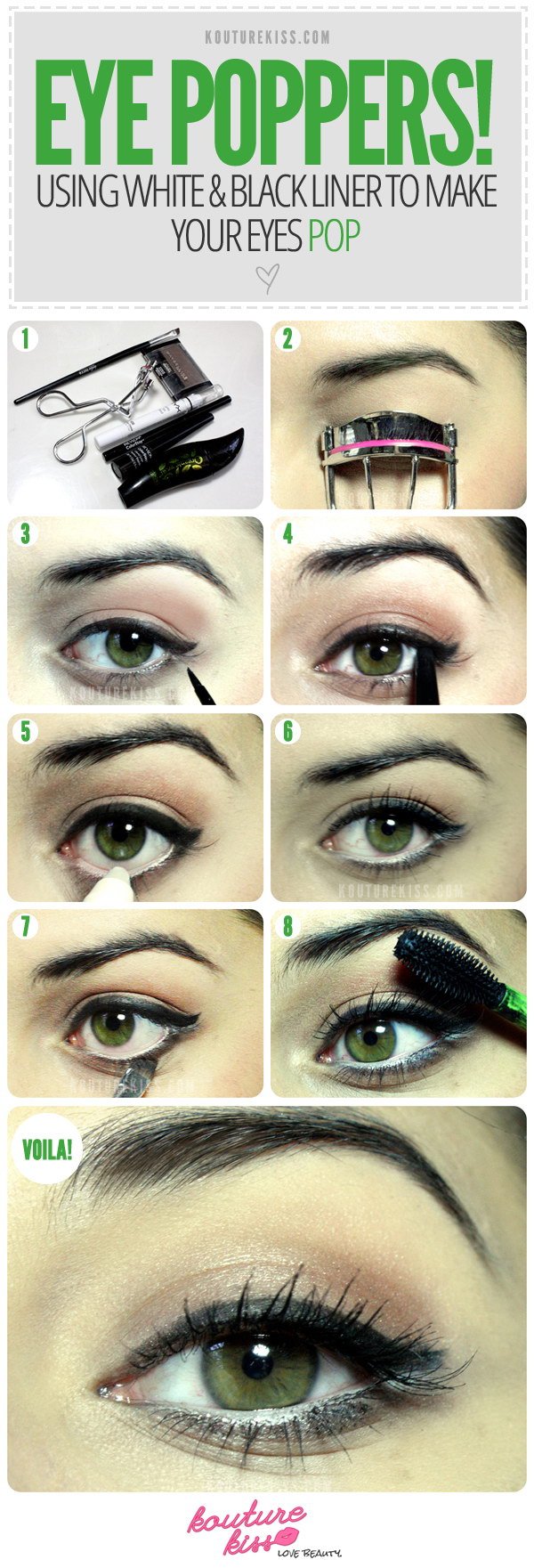 Eye Poppers! Using White & Black Liner To Make Your Eyes Pop.