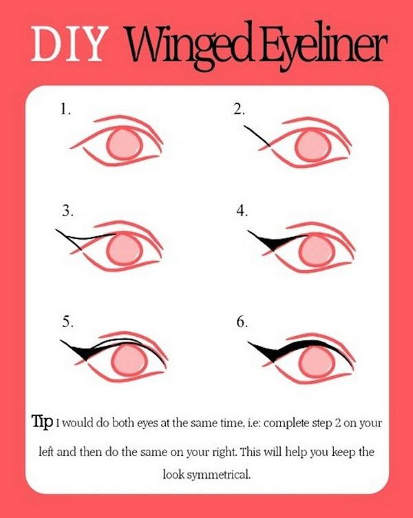 DIY Winged Eyeliner.