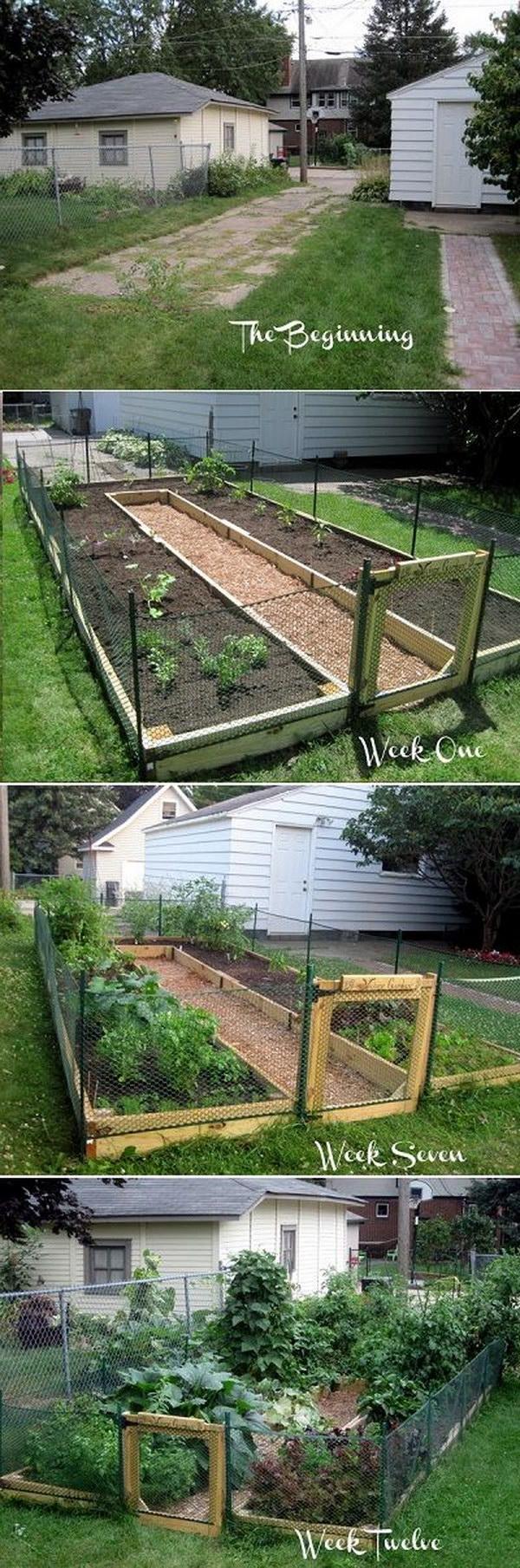 DIY U Shaped Raised Garden Bed.