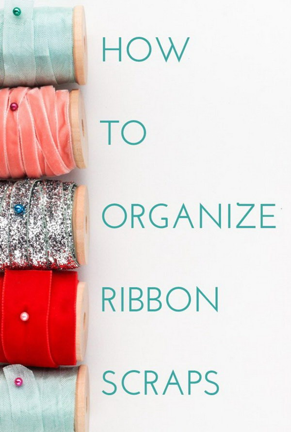 Ribbon Scrap Organization.
