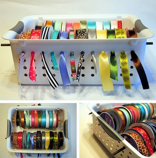 Ribbon Organization with Hole-y Bins.