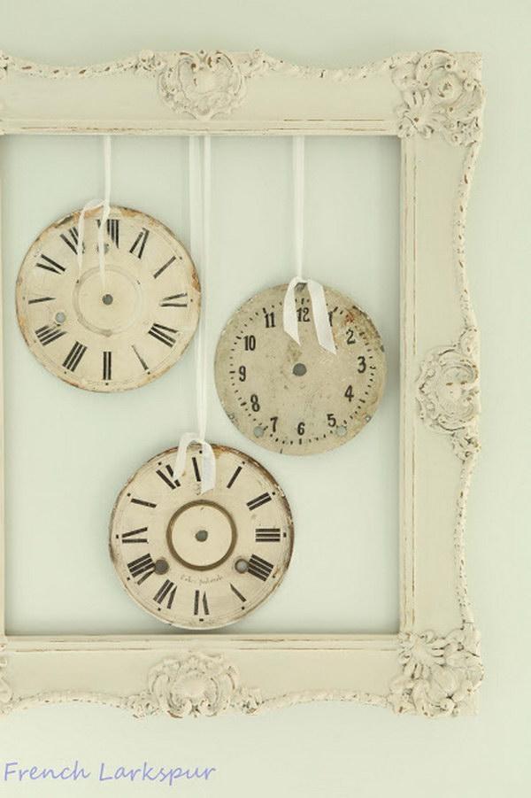 Shabby Chic Clocks And Frame Wall Decor