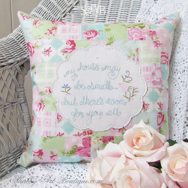 Shabby Faux Patchwork
