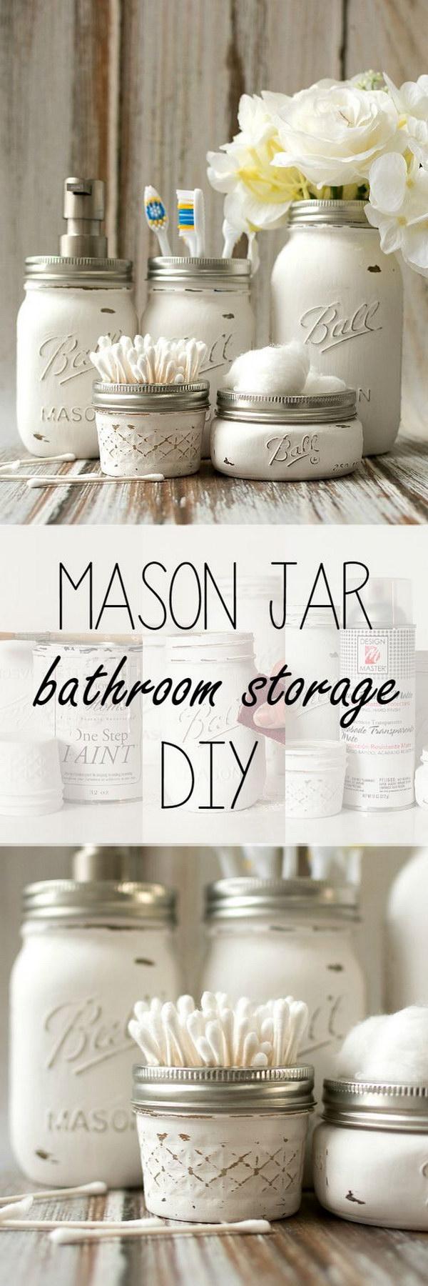 Mason Jar Bathroom Storage & Accessories