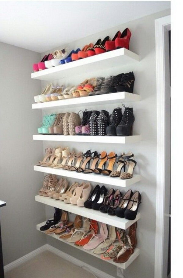 Find and save ideas about Shoe storage solutions on Pinterest. | See more ideas about Cleaning Closet, Storage solutions and Shoe storage solutions do it yourself.