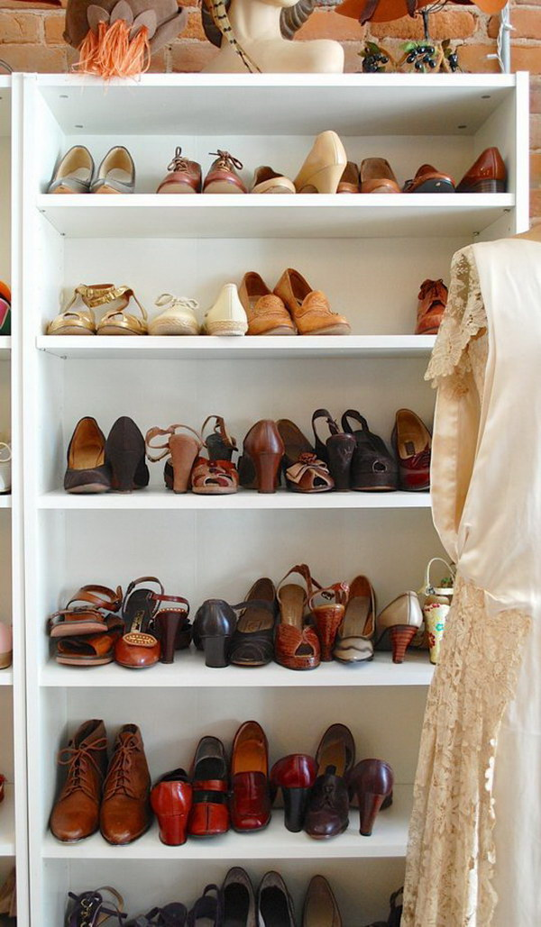 Billy Bookcase for Shoe Storage.