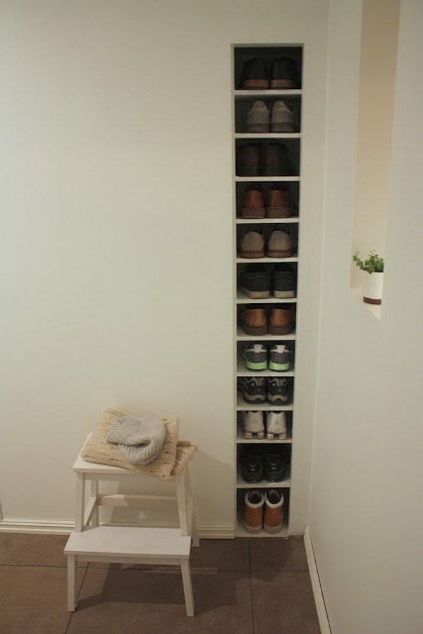 Built-in Shoe Storage by the Door.