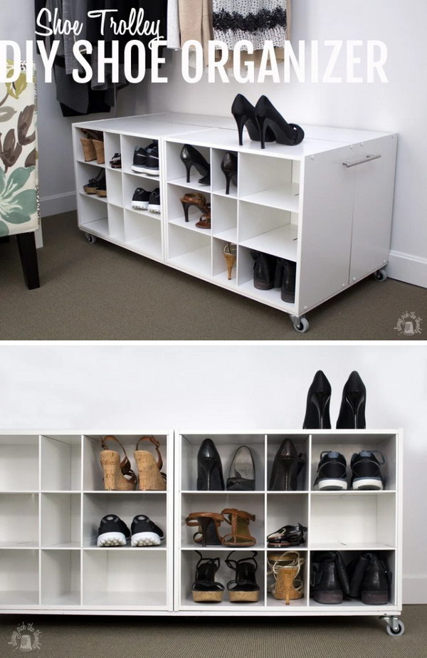DIY Trolley Shoe Organizer.