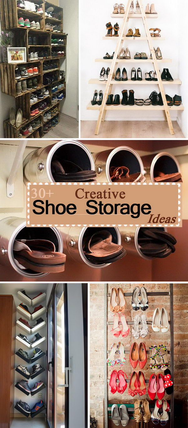 Creative Shoe Storage Ideas.