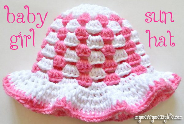 Granny Stitch Sun Hat free pattern.