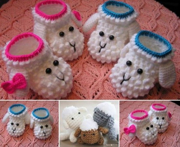 Lamb Booties: Free Crochet Pattern.