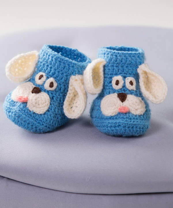 Puppy Booties Crochet Pattern.