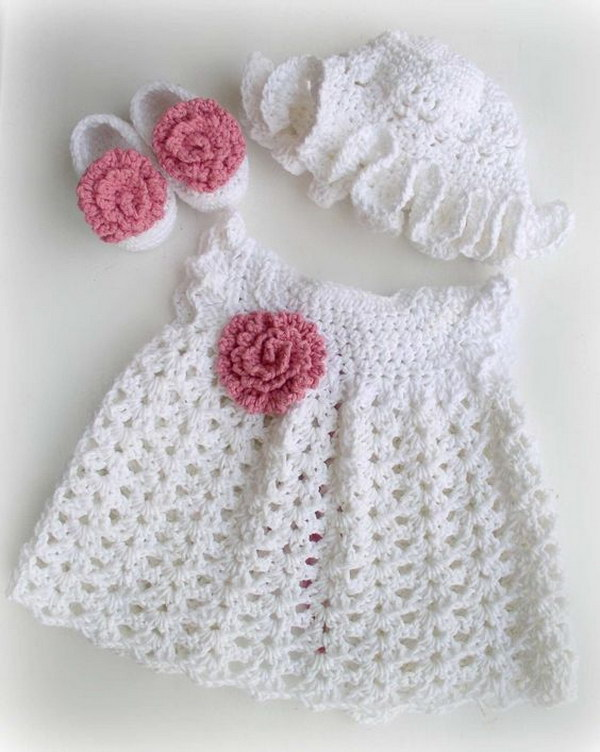 free crocheted baby dress patterns.