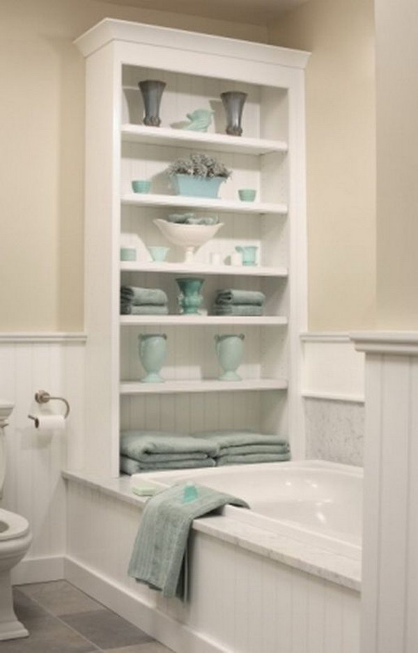 Bathtub Shelf Built In