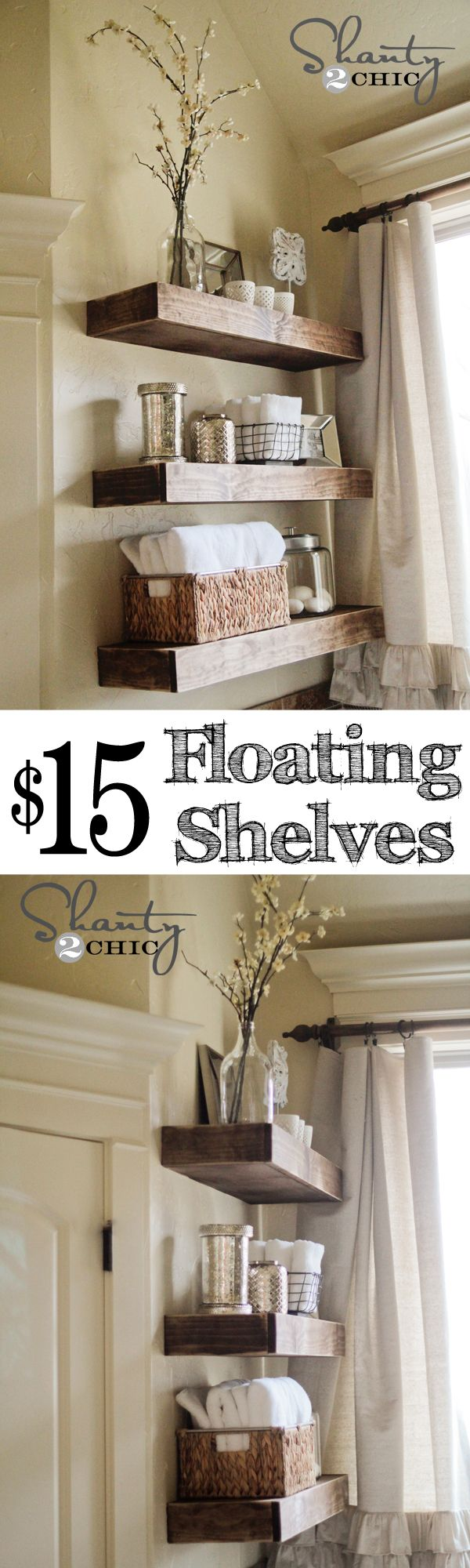 DIY Floating Shelves for $15