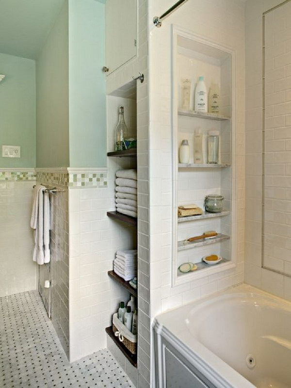 Great Surround The Bathtub Storage