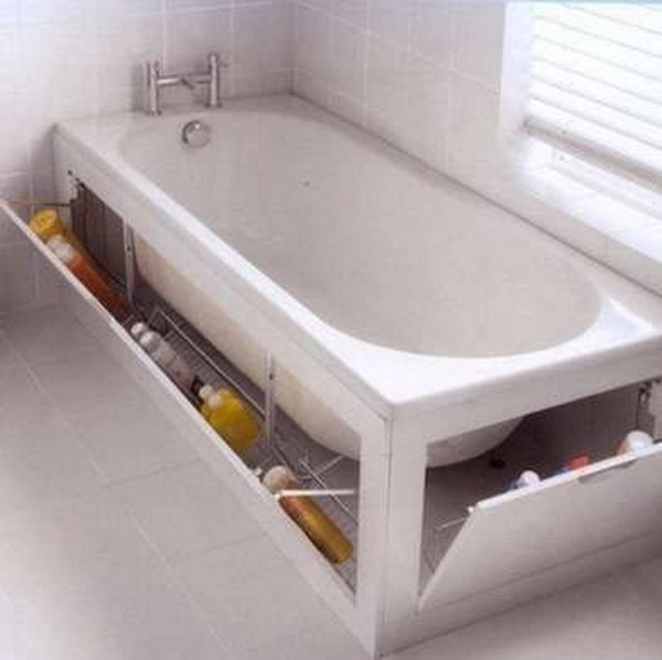 Elegant Creative Beneath BathTub Storage