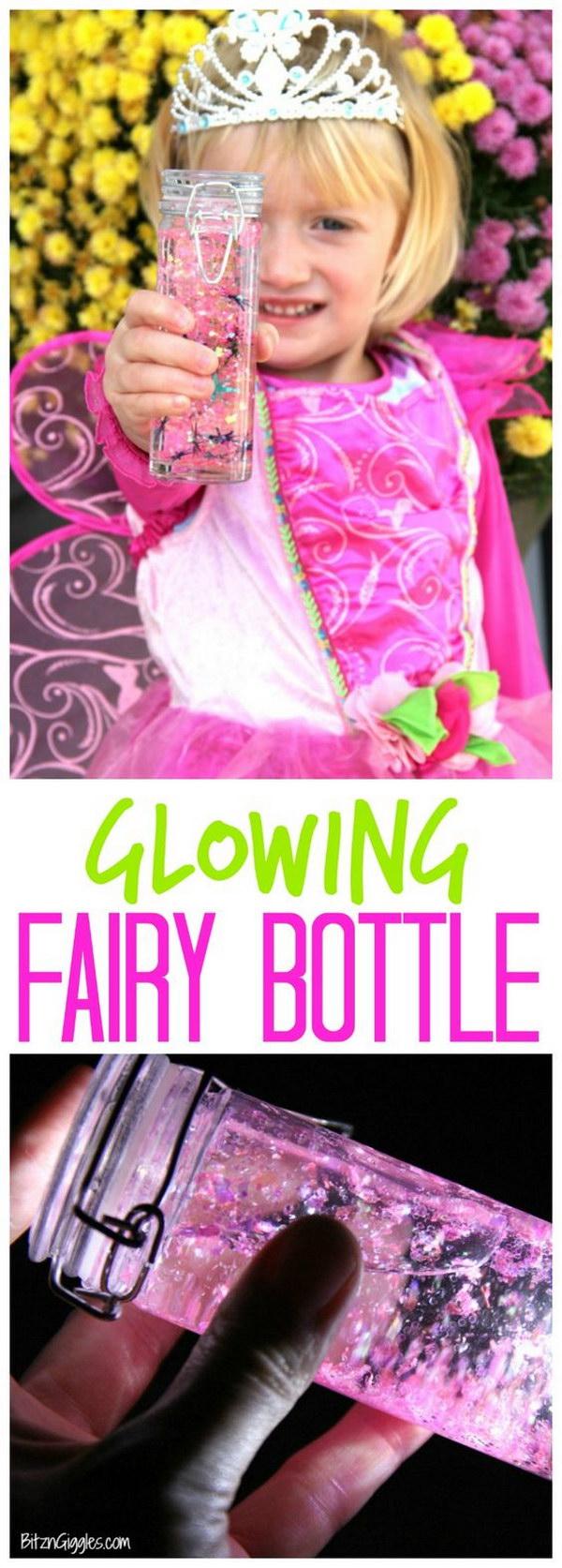 DIY Glowing Fairy Bottle