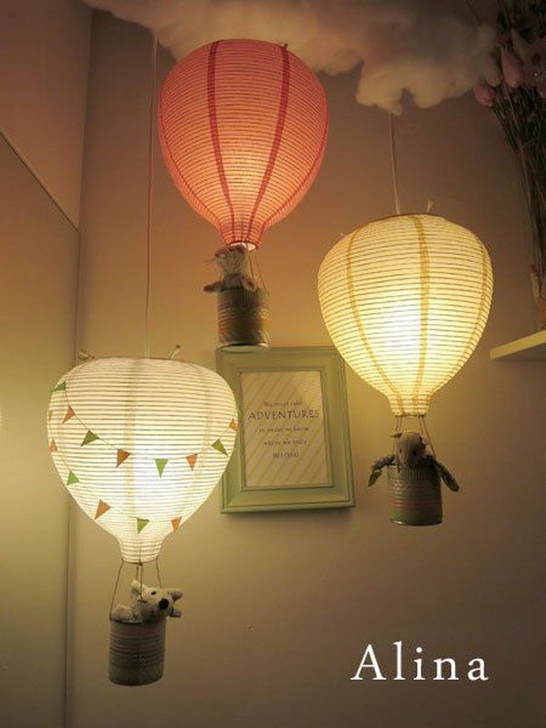 DIY Hot Air Balloon Lamps