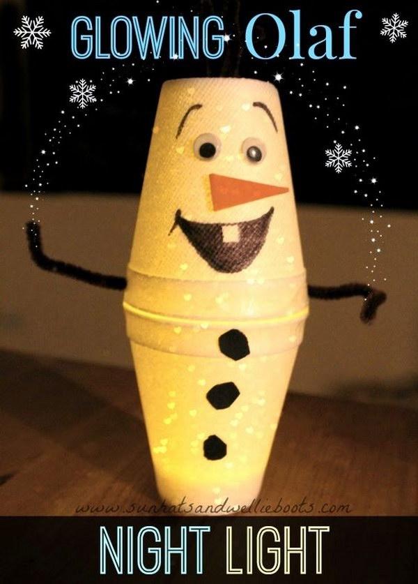 DIY Snowman Night Light For Christmas