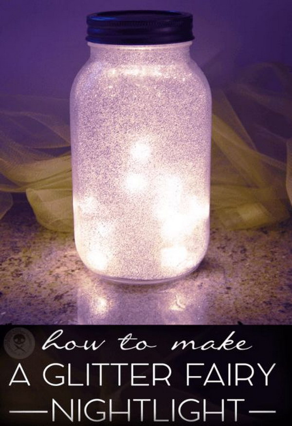 DIY Glitter Fairy Mason Jar Light 20