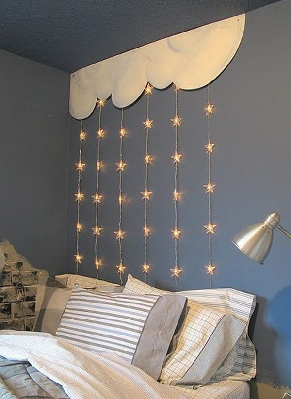 DIY Night Light Ideas For Kids - String lights for girls bedroom