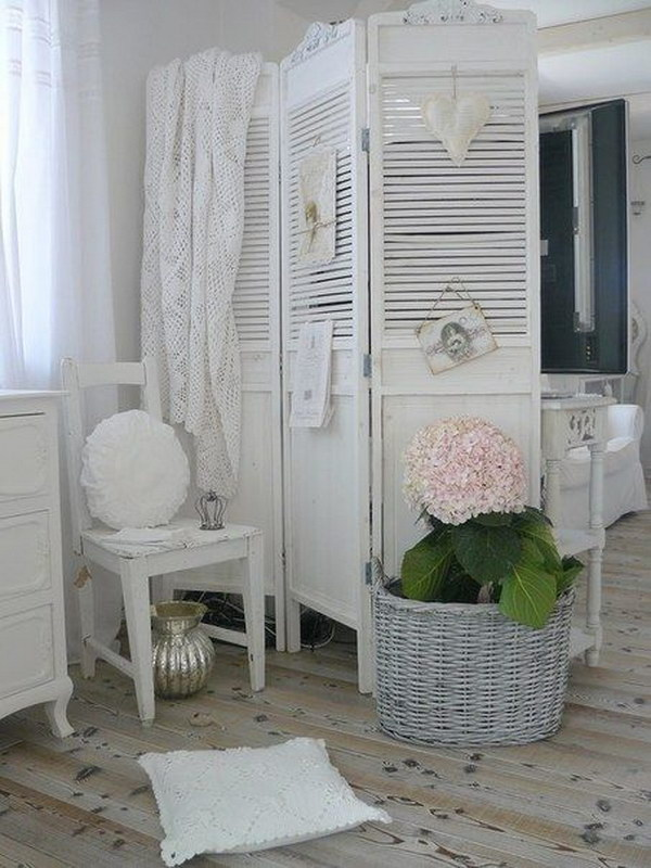 Recycled Shutter Room Divider