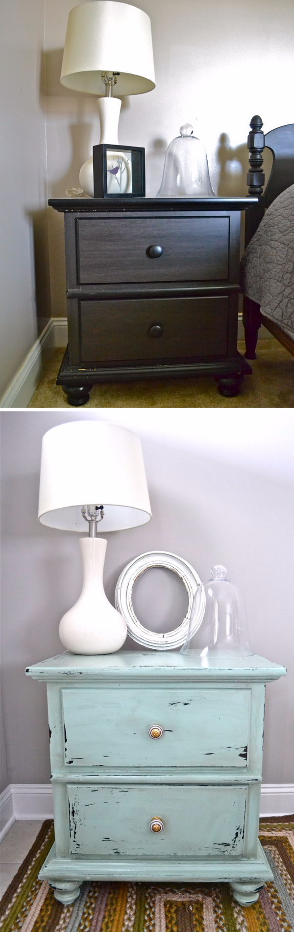 Shabby Chic Nightstand Makeover