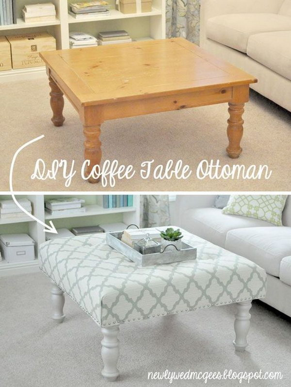 DIY Shabby Chic Ottoman