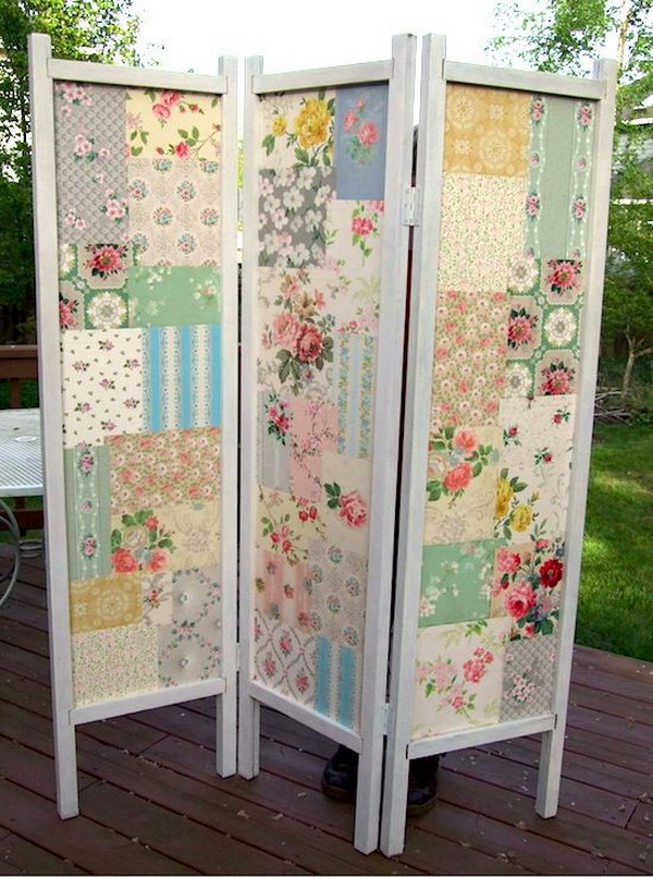 Wallpaper Patchwork DIY Folding Screen.