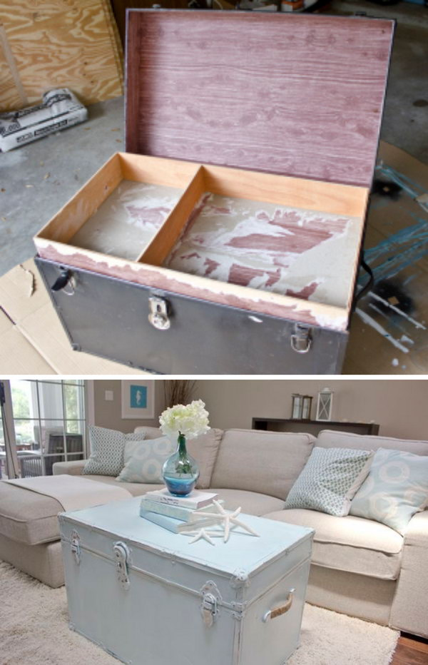 Vintage Chest Turned Coffee Table.