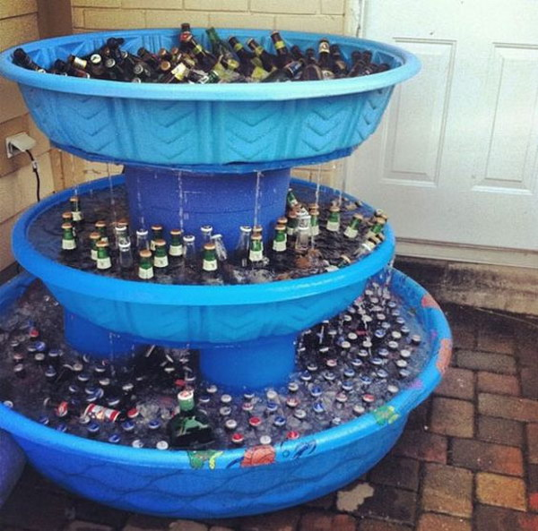 Kiddie Pool Beer Station