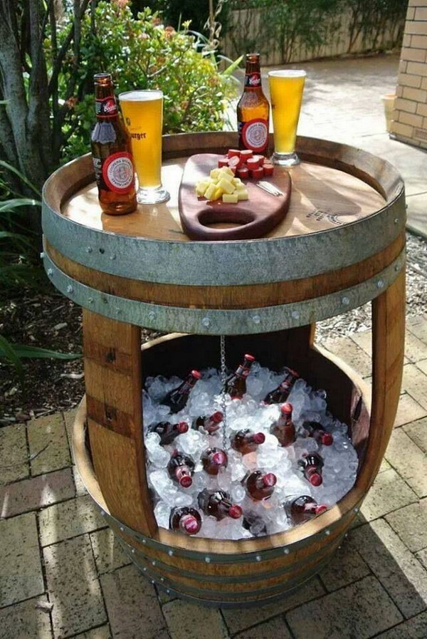 Wine Barrel Drink Station