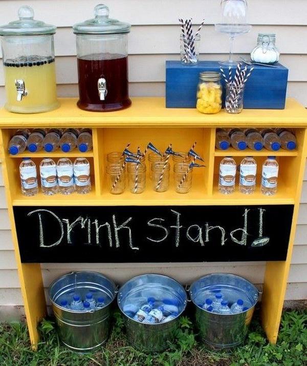 Headboard Drink Stand.