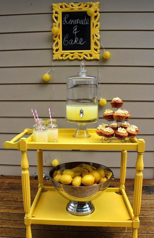 DIY Tea Trolley Lemonade Stand