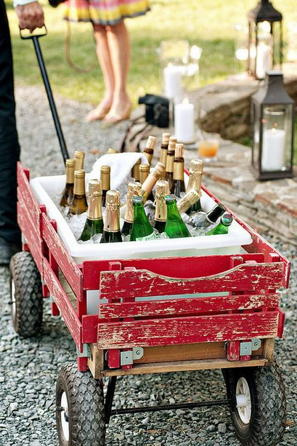 Wheel Barrow Drink Station